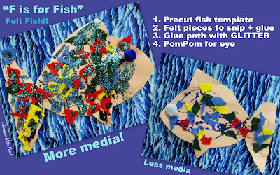 Photo of: F is for Fish Preschool art project