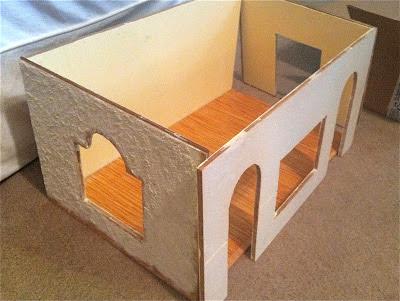 miniature room box before remodel