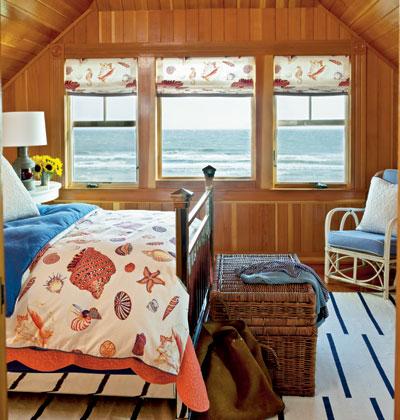 cozy bedroom with wood