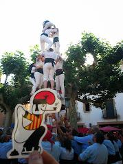 Els castellers a Santa Coloma de Farners.