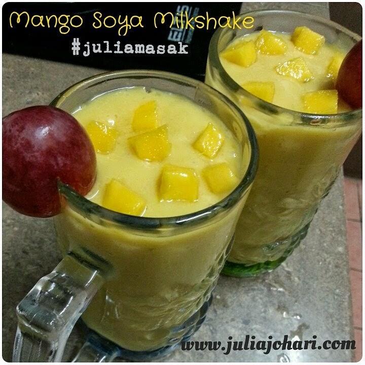 Resepi Mango Soya Milkshake