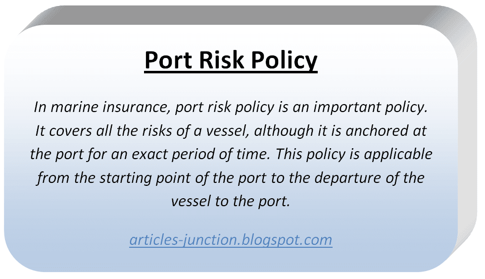 Port Risk Policy
