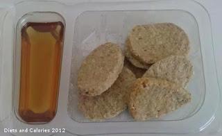 Graze box snacks - honey & lemon oatbakes