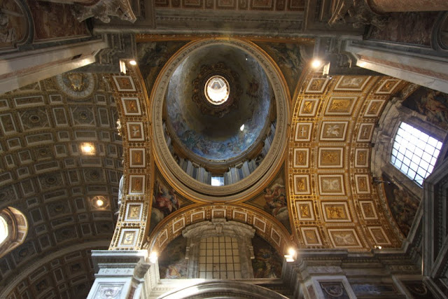 Smaller dome in St Peter's Basilica in Vatican City, Rome, Italy