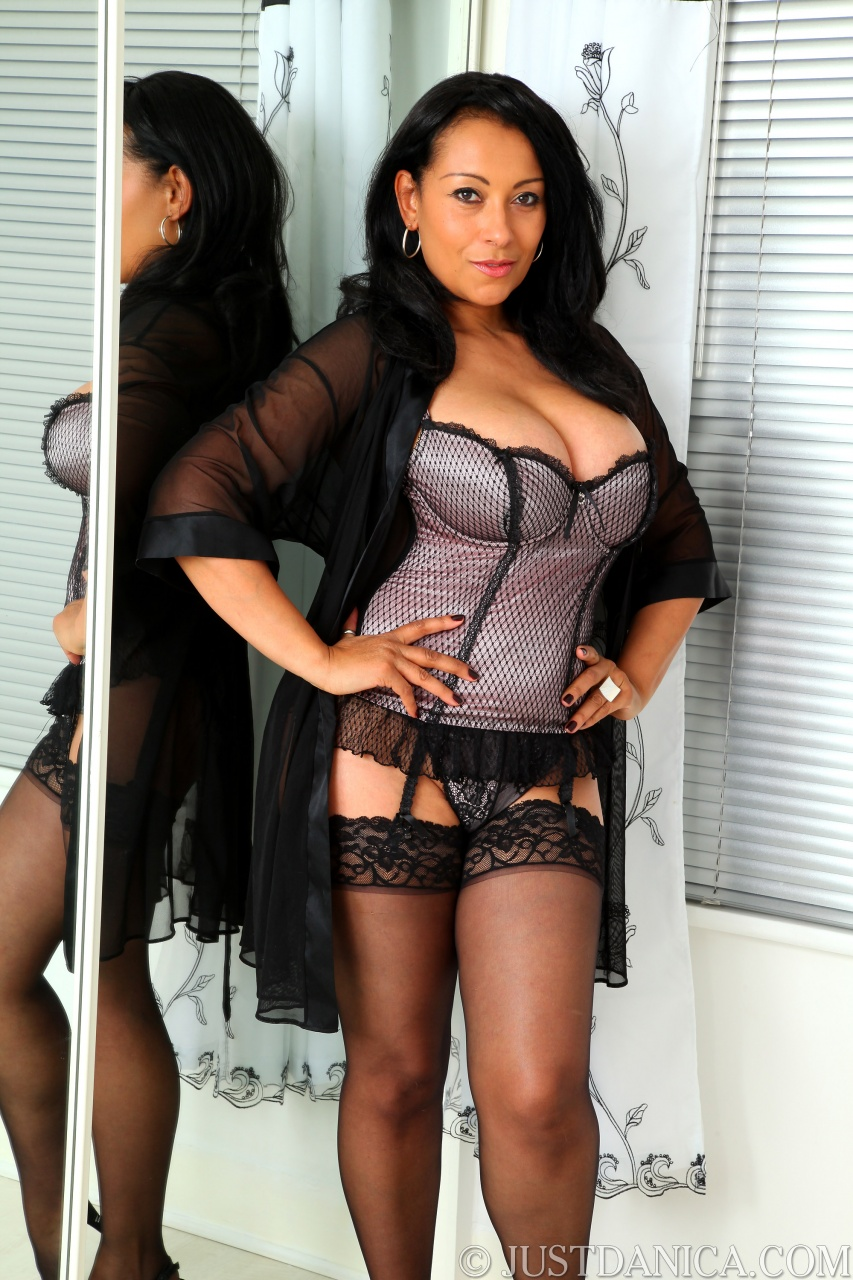 Busty corset and stockings think