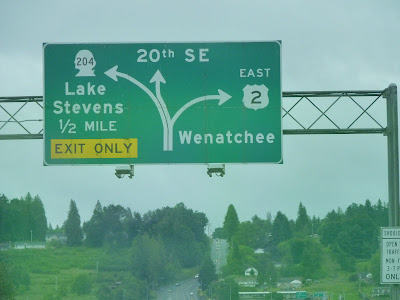 Road sign - US 2 Wenatchee
