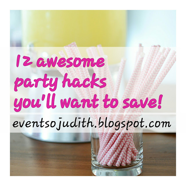 12 awesome party hacks by eventsojudith.blogspot.com, party straws