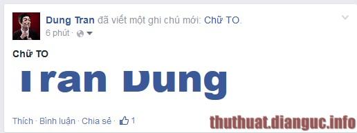 thủ thuật viết chữ to trên facebook