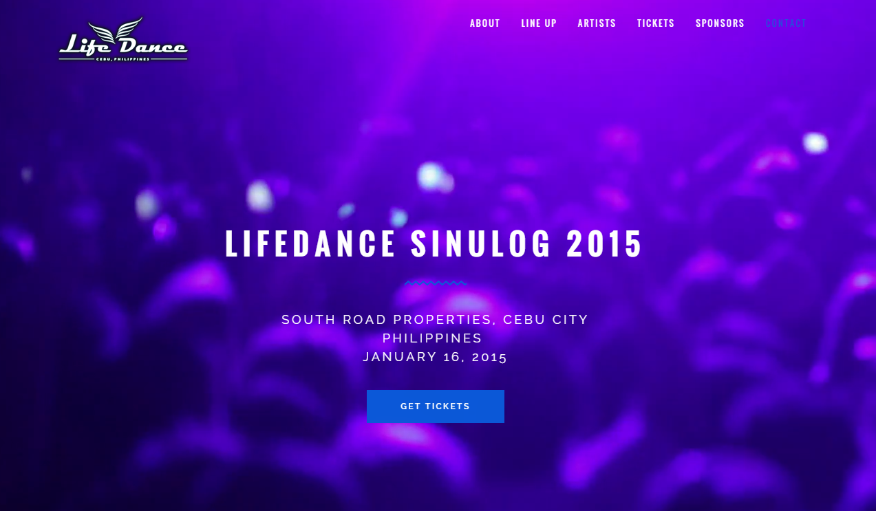 the life dance webpage