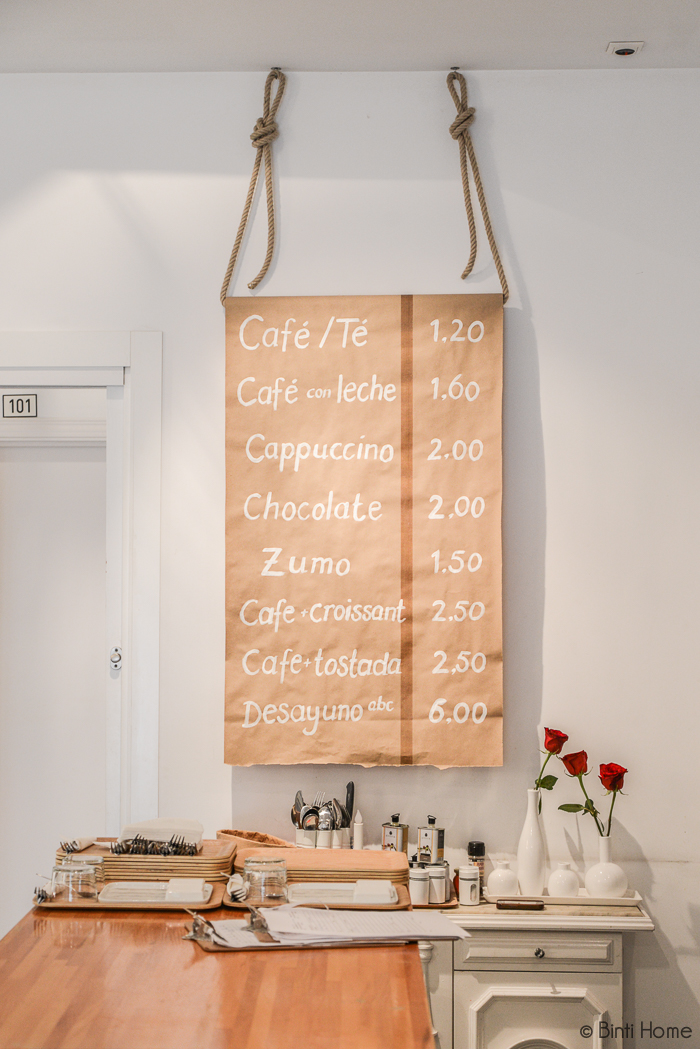 Menu Coffeebar ABCYou Bed And Breakfast Valencia