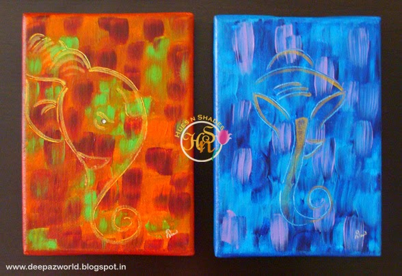 Abstract-Ganeshas-Red-and-Blue-Hues-n-Shades