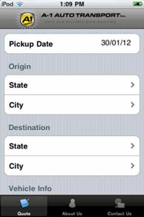 A1 Auto Transport iPod App