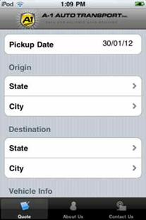A1 Auto Transport iPod App
