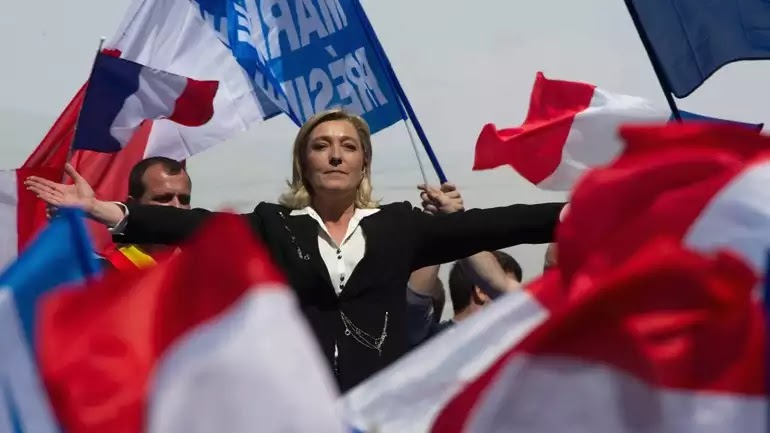 Ο στρατός των 7,7 εκατ. ψηφοφόρων της Λεπέν! σε πανικό η ελιτ!  γιαυτό κατέβασαν τους γνωστούς χρήσιμους ηλίθιους στους δρόμους!