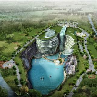 Cina Bangun Hotel Radikal Dalam Gua Berisi Air