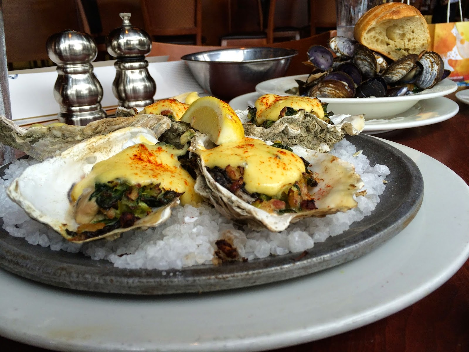 Oysters Rockefeller at Elliott's Oyster House in Seattle