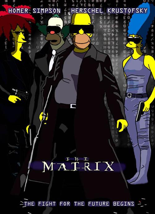 posters cinema simpsons - The Matrix