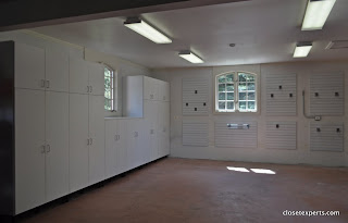 Garage Cabinets with Slatwall
