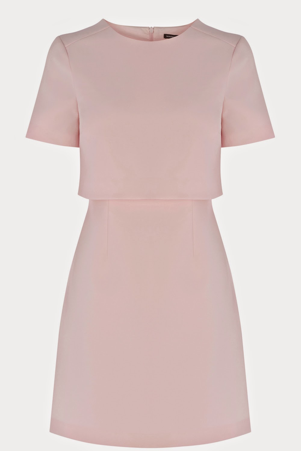 warehouse pastel pink dress