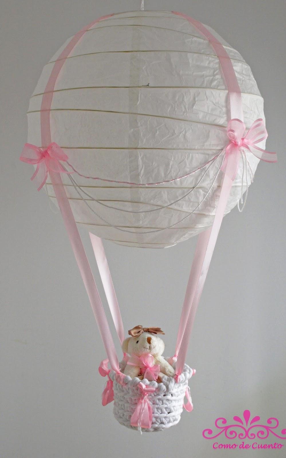 Como de cuento decorando la habitaci n del beb globo l mpara - Lampara habitacion bebe ...