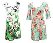 . entre otros, por vestidos estampados con paisajes bucólicos, .