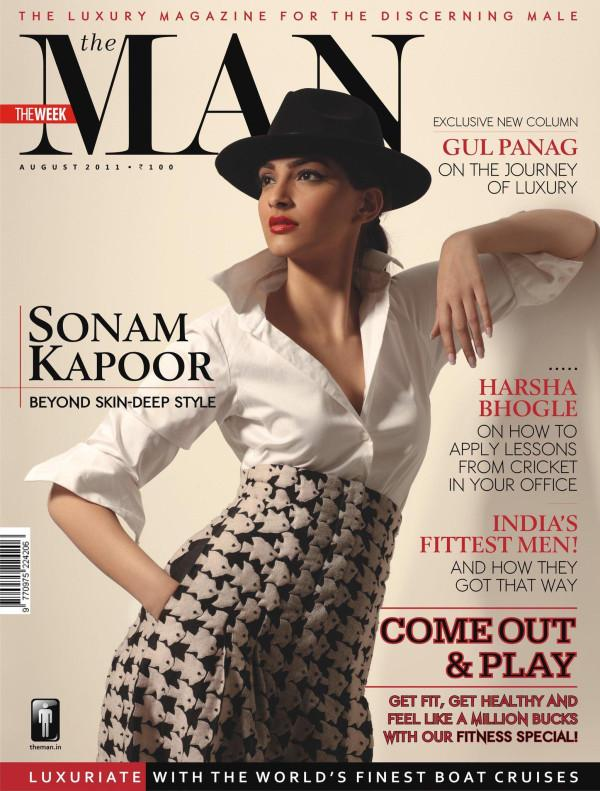 Sonam Kapoor @ 'The MAN' Magazine Cover Of August 2011