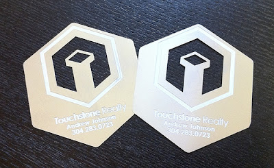 diseño de tarjetas de visita metal