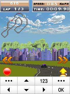Race Racing Samsung Corby Games Free Download - Screenshot 2
