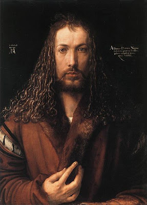 Albrecht Durer - Self-portrait in a Fur-Collared Robe, 1500