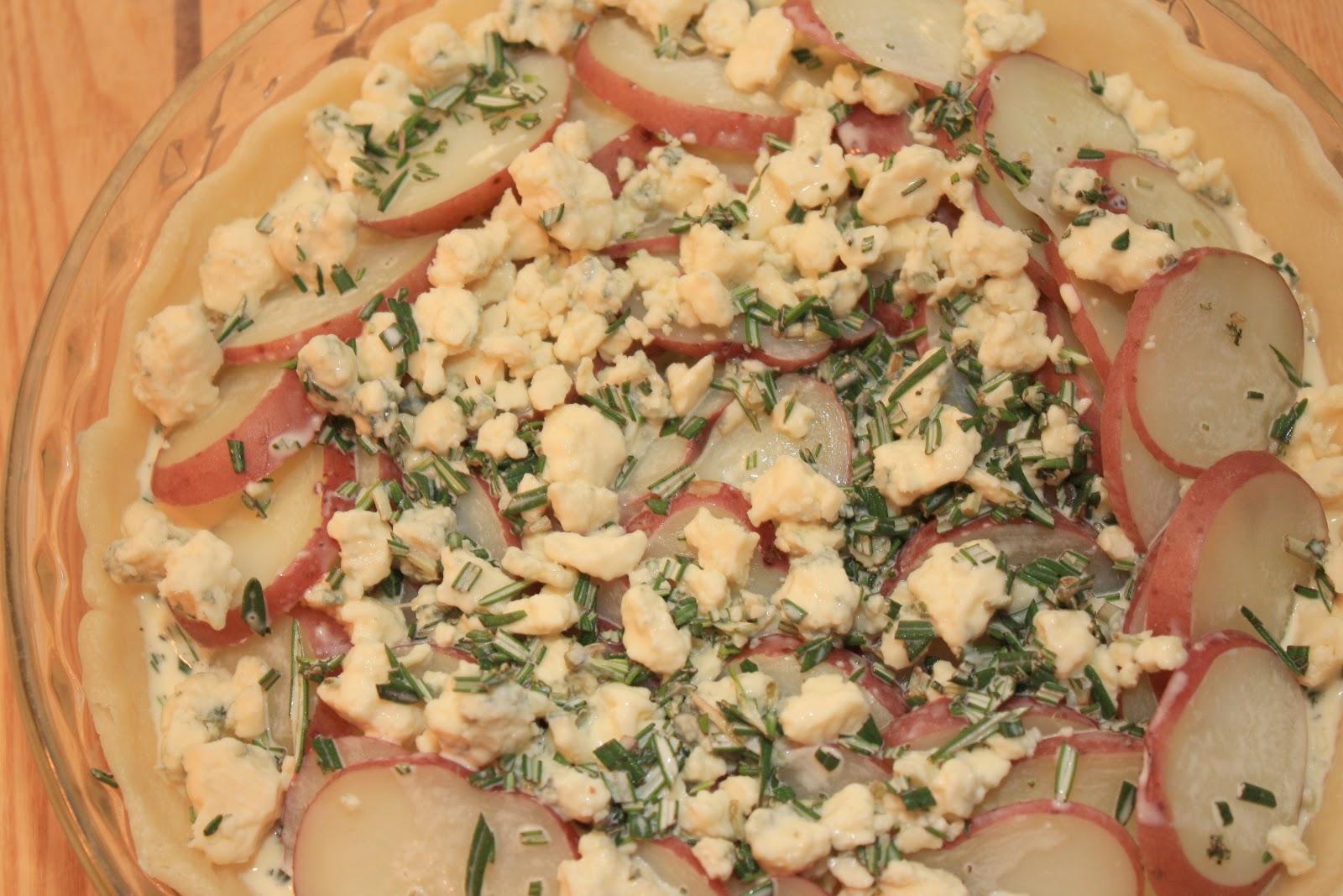 The Bitchin' Kitchin': Blue Cheese and Red Potatoes Tart