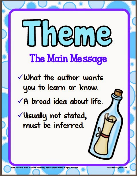 Theme Worksheets For 3rd Grade : Ideas for teaching theme and a couple freebies minds