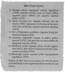 5 paragraph essay jim crow laws