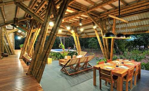 or cafe bamboo architecture design