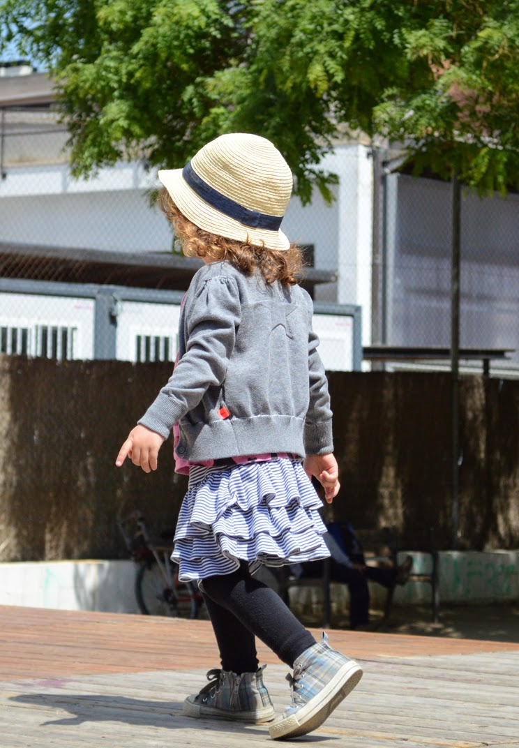 KIDdO Style: Molo Kids cardigan and Green Cotton ballerina skirt
