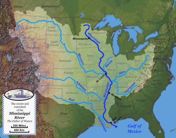 map of mississippi river. mississippi river map huck