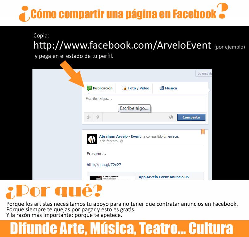 Forma sencilla de compartir página de Facebook