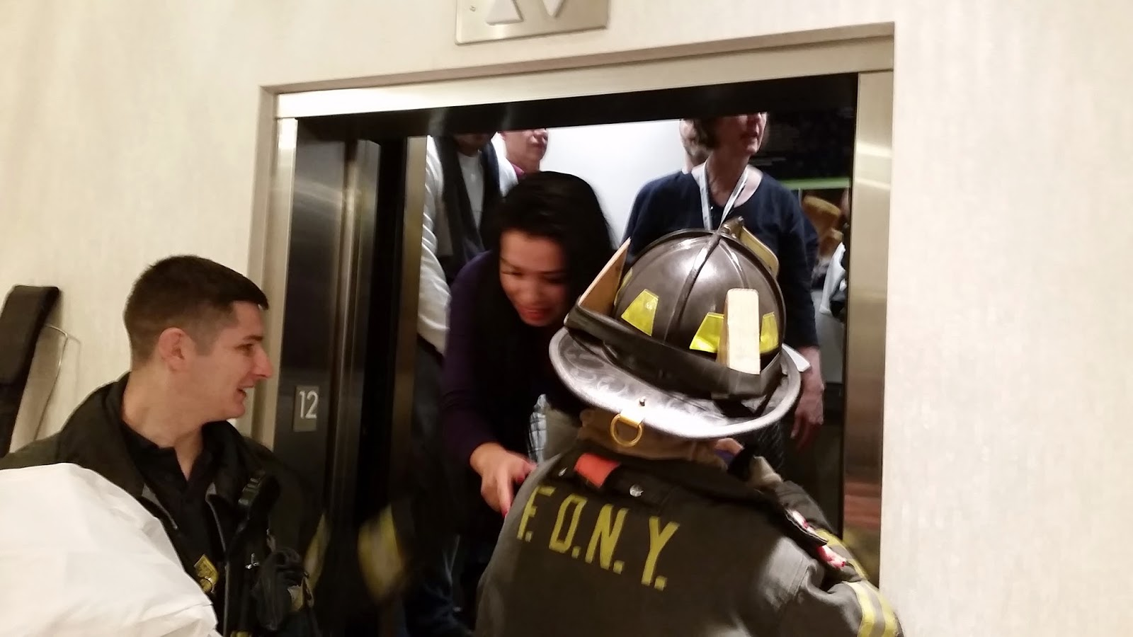 stuck in a elevator with 3 people Cambridgeshire fire service will now only rescue people if they have been stuck  in a lift for three hours or more, and even then they will not.