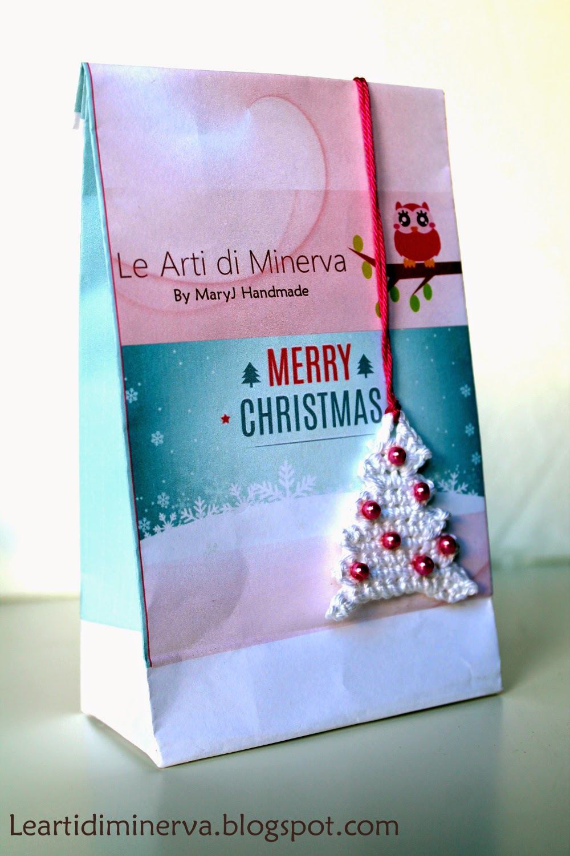MaryJ Handmade Albero di Natale all uncinetto