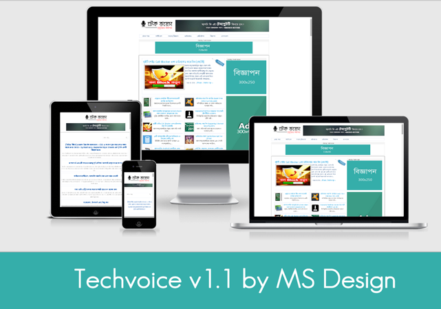 Responsive Techvoice Blogger Template