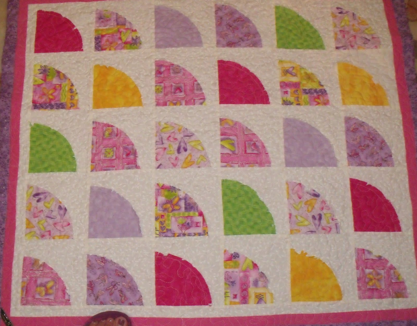 The Accidental Quilter.....: Hot Pink Shabby Chic
