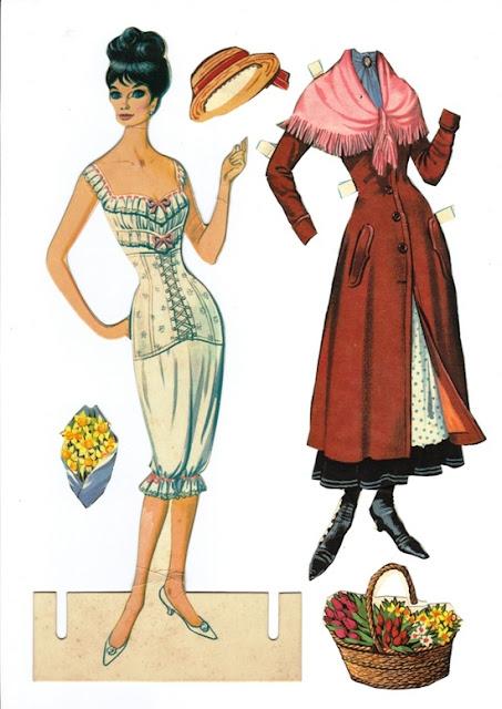 Regreso a la infancia: Chicas se acuerdan de cuando jugaban a vestir muñequitas de papel?