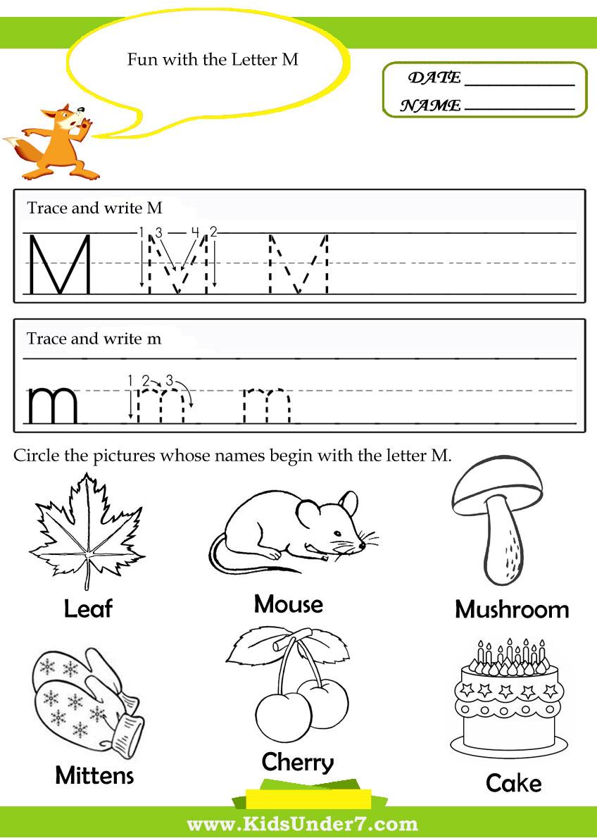 Free Preschool Alphabet Tracing Printable Worksheets