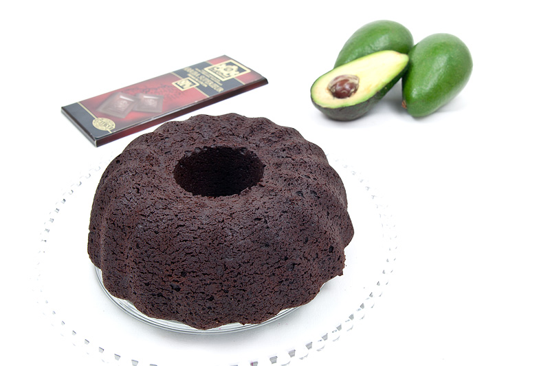 Vegan chocolate cake with avocado baked