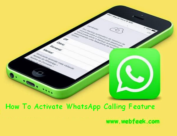 How To Active WhatsApp Calling Feature
