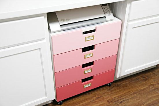 iheart organizing studio progress crafty storage cart