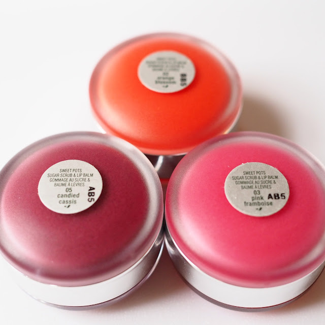 Clinique Sweet Pots in Orange Blossom, Candied Cassis and Pink Framboise