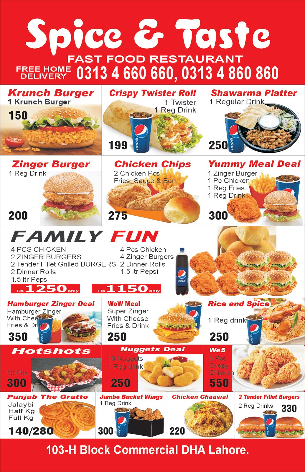 Restaurants in lahore defence , restaurants in lahore dha ,free home dilivery pizza burger