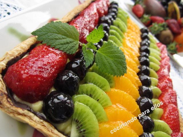 Cocinando para ellos tarta de hojaldre con frutas variadas - Cocinando para ellos ...