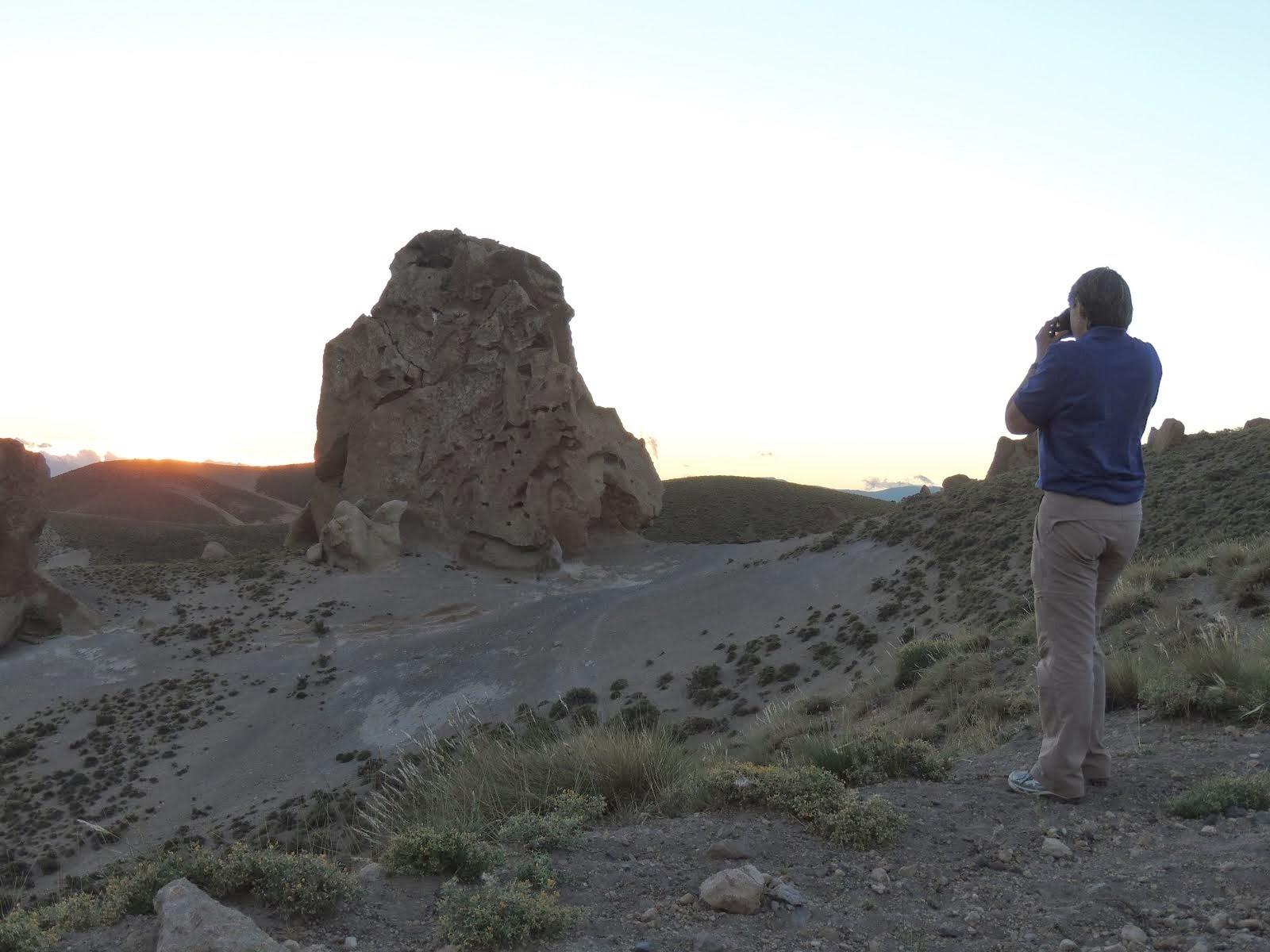 Entardecer no Caminho do Vulcão Domuyo