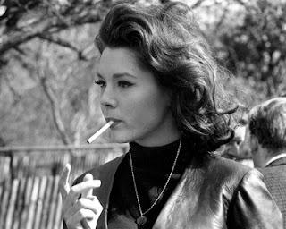 Diana Rigg Smoking Cigarettes